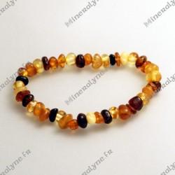 Bracelet Ambre Bébé multicolore