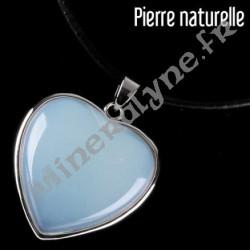 Pendentif coeur de Pierre de Lune
