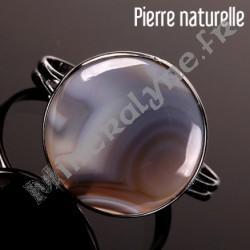 Bracelet rigide Nébuleuse grisée Agate