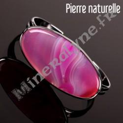 Bracelet rigide Agate rosée