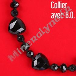 Collier médiators de perles de verre et boucles d'oreilles XL