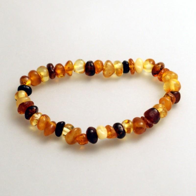 bracelet ambre b b baroque multicolore. Black Bedroom Furniture Sets. Home Design Ideas
