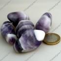Pierres roulées Améthyste zonée violet et blanc