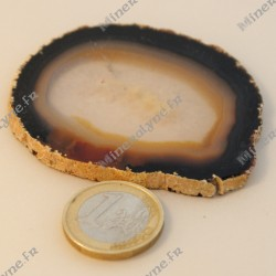 Agate plaque fine - beige (lot 1)