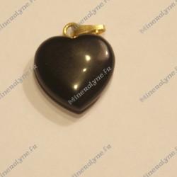 Pendentif Onyx coeur 15mm