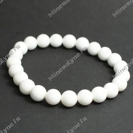 Bracelet Bénitier White shell 8mm