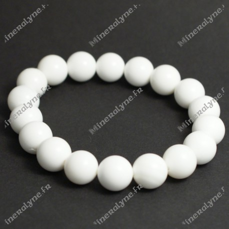 Bracelet Bénitier White shell 10mm