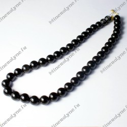 Collier Obsidienne oeil céleste 10mm