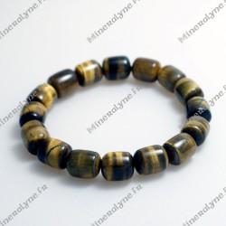 Bracelet Oeil de tigre olives