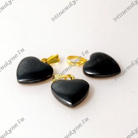 Pendentif Hématite coeur 12 mm