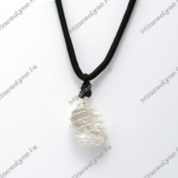 Collier cage PM Quartz fumé