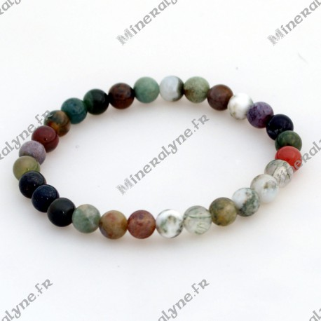 Bracelet Agate indienne 6mm