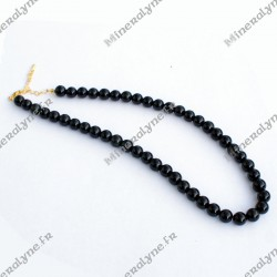 Collier Obsidienne oeil céleste 8mm