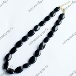 Collier Onyx ovales