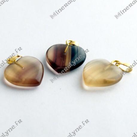 Pendentif Fluorite coeur 15mm