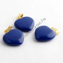 Pendentif Howlite teinte Lapis Lazuli coeur 15mm