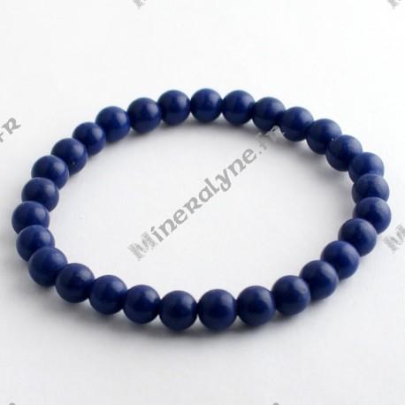 Bracelet Howlite teinte lapis lazuli 6 mm