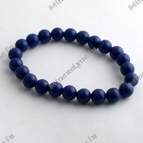 Bracelet Howlite teinte lapis lazuli 8 mm
