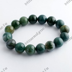 Bracelet Agate Mousse 12 mm