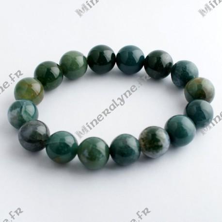 Bracelet Agate Mousse 12 mm
