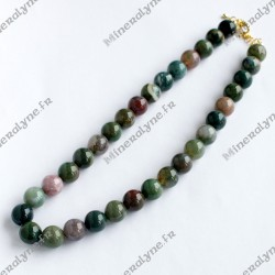 Collier Agate Indienne 12 mm