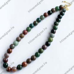 Collier Agate Indienne 10 mm