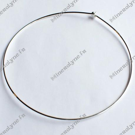 Tour de cou fil métal argenté