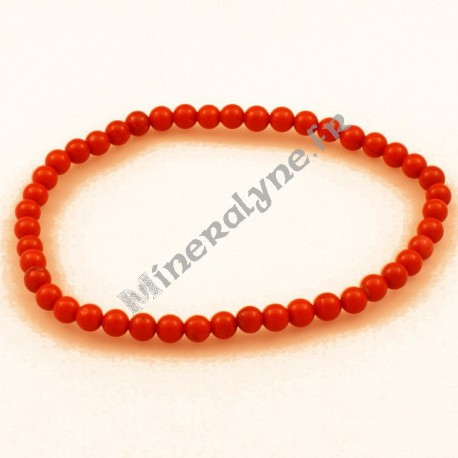 Bracelet Jaspe rouge 4mm