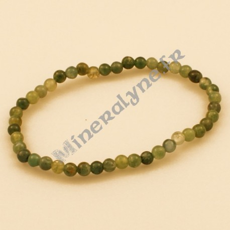 Bracelet Agate mousse 4mm