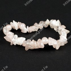 Bracelet baroque Quartz rose