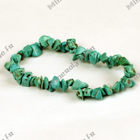 Bracelet baroque Howlite teinte Turquoise