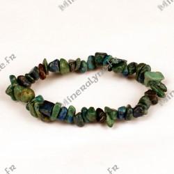 Bracelet baroque Azurite Chrysocolle