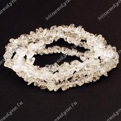 Collier baroque Cristal de roche 90 cm