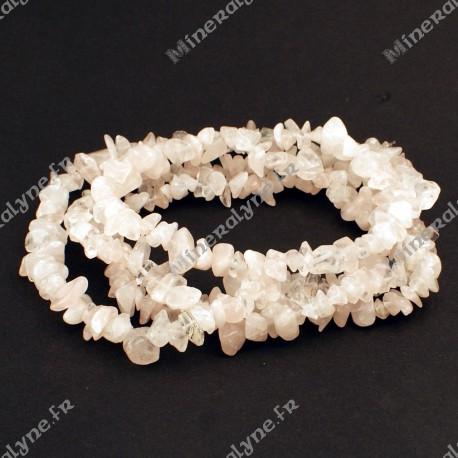 Collier baroque Quartz rose 90 cm