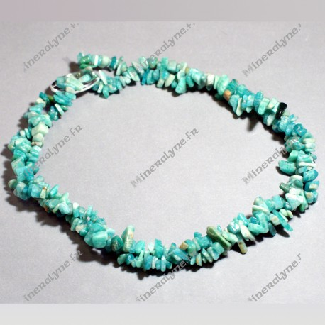 Collier baroque 90 cm Amazonite