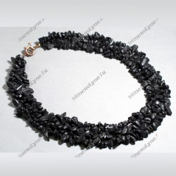 Collier baroque 5 rangs Onyx 42 cm