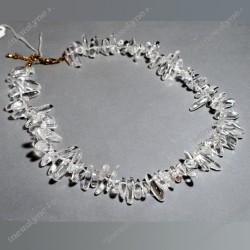 Collier Cristal de roche 45 cm