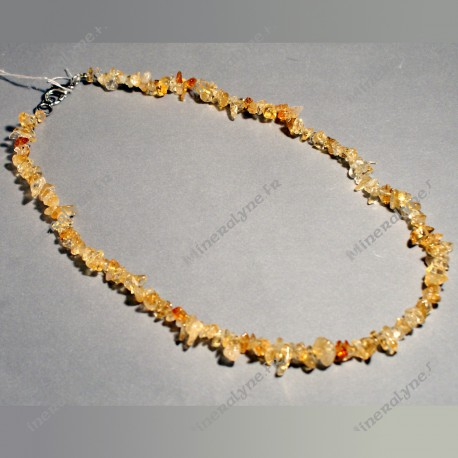 Collier baroque 45 cm Citrine