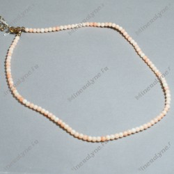 Collier boules 3 mm Corail rose