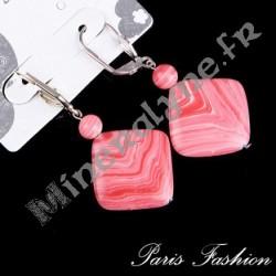 Boucles d'oreilles XL losange Agate.